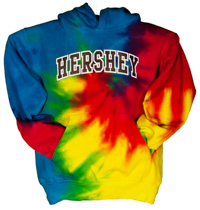 HERSHEY  Youth Hooded Sweatshirt Tye Dye_LARGE