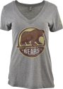 Hershey Bears Ladies V-Neck Heathered Distressed Primary Logo T-shirt_THUMBNAIL