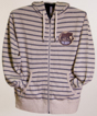 Hershey Bears Full Zip Stripe Primary Logo Hooded Sweatshirt_THUMBNAIL