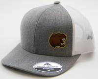 Hershey Bears Men's Heather Grey Bear Head Logo Adjustable Hat_LARGE