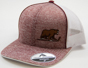 Hershey Bears Men's Heather Maroon Bear Hockey Stick Logo Adjustable Hat