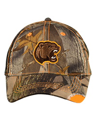 Hershey Bears Men's Camo Hat w/ Orange Accent