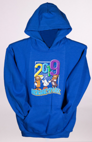 Hersheypark 2019 Characters Youth sweatshirt Royal Blue LARGE