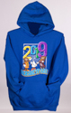 Hersheypark 2019 Character Hooded Sweatshirt Royal Blue_THUMBNAIL