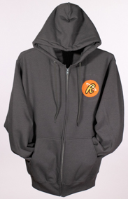 Hersheypark Cupfusion R Agent Logo Full Zip Hooded Sweatshirt Grey_LARGE