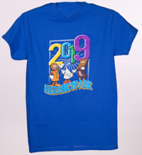 Hersheypark 2019 Characters T-shirt Royal Blue LARGE
