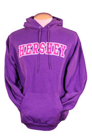 Hershey Hoodie Sweatshirt Purple Heathered