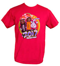 2017 Hersheypark T-Shirt Adult Fuschia