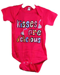 """Kisses are Delicious"" Onesie"