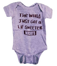 """The World Just Got a Little Sweeter"" Hershey's Onesie"