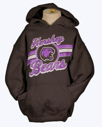 Hershey Bears Girls Purple & Grey Hoodie
