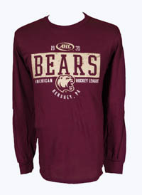 Hershey Bears Maroon AHL Long Sleeve T-shirt