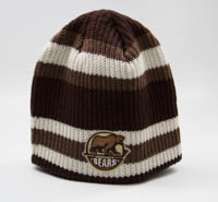 Hershey Bears CCM Vintage Stripe Ribbed Beanie Knit Hat