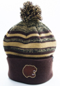 Hershey Bears Youth Bubble Pom Cuff Knit Hat