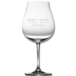 hope & grace Logo Burgundy Glass