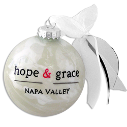 hope & grace Glass Ornament: Hand Painted_MAIN