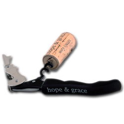 hope & grace Logo black wine key