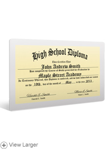 Laminated Wallet High School Diploma