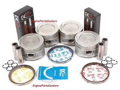 Toyota 2.4L 2367cc Piston+Rings+Rod and Main Bearings (10-239+CR4129AM+MB506AM+TW234AM)