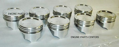Chevy 400 SEALED POWER Hyper Flat Top Piston Set 4VR (H400CP) MAIN