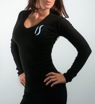 V Neck Long Sleeve Shirt for women (Black)