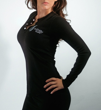 Long Sleeve Henley Shirt (Black)