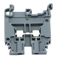 Terminal Block, 6mm, 30A, Grey, Screw 30A/600V Max., Accepts 24-10 AWG Wire M4/6, Screw Terminal MAIN