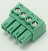 Connector Terminal Block Plug, 4 Pole, 3.81mm Pitch,Phoenix MAIN