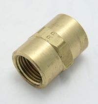 "Brass Coupling 1/2"" Female Pipe Thread MAIN"