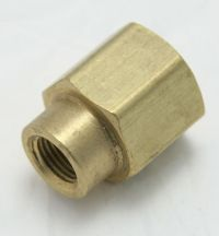 Brass Reducer Coupling 1/4 Female to 1/8 Female Pipe Thread MAIN