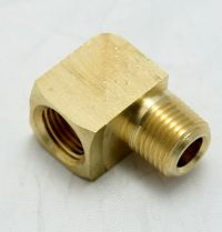 Brass Elbow 90-Degree Street 1/8 Female to 1/8 Male Pipe Thread MAIN