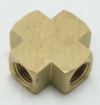 Brass Cross 1/4 Female Pipe Thread MAIN