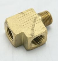 Brass Street Tee 1/4 Female to Female to Male Pipe Thread MAIN