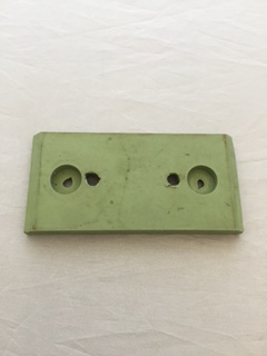 ON-3, Grabber Pad, 60 Duro Green, 3-15/16 X 1-7/8 Molded with Steel Insert, Modified