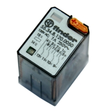 Relay, Finder, General Purpose Realy, 55.34.8.120.0050, 4PDT, 120 V AC  Coil (50/60Hz), 7A, 14 Pin MAIN