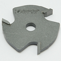 "Router Bit, 3 Wing Slotting Cutter, 1/4 Kerf, 1-7/8"" Dia, 5/16"" Bore MAIN"