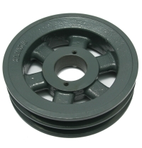 "Gearbelt Pulley, 2BK67H, Double Sheave 6.45"" OD. Use H Bushing MAIN"