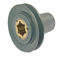 Pulley, BK55H Pulley Single Sheave 5-OD  1.997 Bore with Oilite (Modified) (Auto-Feed), Hex Pulley MAIN