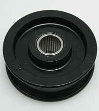 "Idler Pulley,Flat Face, 4-3/8"" OD, 1"" Bore, 1-1/16"" Face, 2-1/8"" Shaft MAIN"