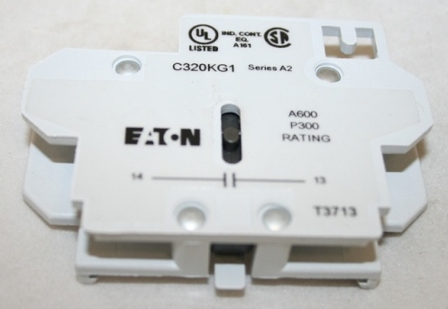 EATON NORMALY OPEN AUX CONTACT FOR 15-75A DP CONT USED WITH C25DNC330A