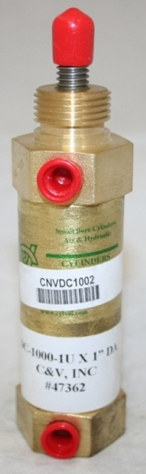 DC1000-1U (C & V) CYLINDER AIR DOUBLE ACTING 3/8-ROD 1 STROKE (DC1000-1 X 1). THUMBNAIL