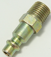 BRASS, B2C MALE NIPPLE 1/4 AIR QUICK DISCONNECT BRASS OR STEEL. THUMBNAIL