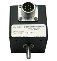Encoder, 716 400 Pulse High Voltage LineDriver Ouput 3/8 Double Shaft, Encoder Products716-0400-HV-S MAIN