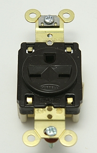 Single Receptacle, HUBBELL, 220V, 15A,  5661 MAIN