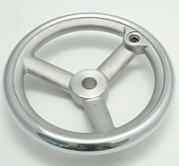 "Handwheel, 6"" Dia., 3 Spoke , Aluminum, Without Handle, 14ME87A MAIN"
