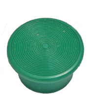 Mushroom Knob, Green, Square D, 1-3/8 in. Screw-on for KR24 and SKR24 MAIN