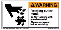 Label, Warning, Rotating Cutter Head MAIN