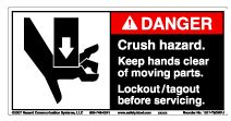 Label, Danger, Crush Rush Hazard MAIN
