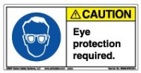 Label, Caution, Eye Protection Required MAIN