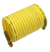 "Air Hose, 1/4"" ID X 12', Yellow, With 1/4 NPT Swivel Fittings, Nycoil MAIN"